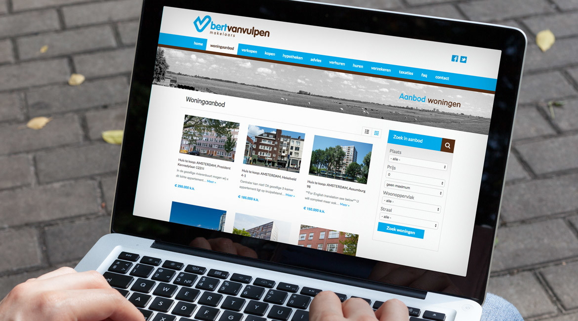 website bert van vulpen webdesign