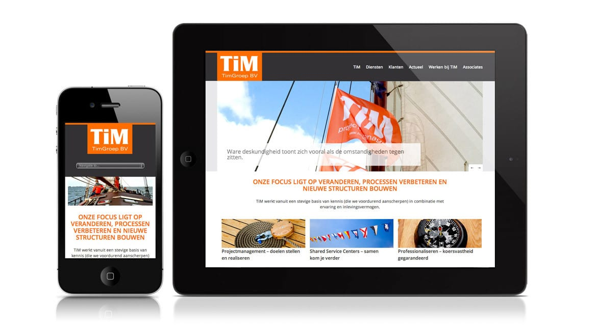 TimGroep projectmanagers wordpress website
