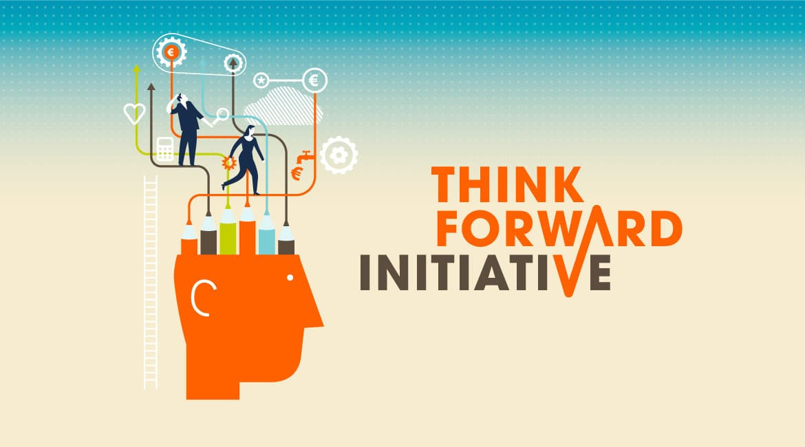 Think Forward Initiative concept beeldmerk en key visual